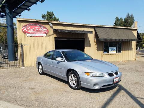 1999 Pontiac Grand Prix for sale at Rent To Own Auto Showroom LLC - Rent To Own Inventory in Modesto CA
