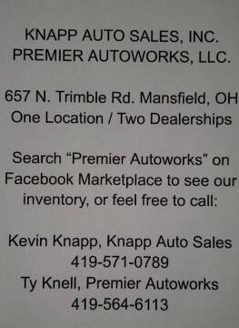. . for sale at Knapp Auto Sales in Mansfield OH