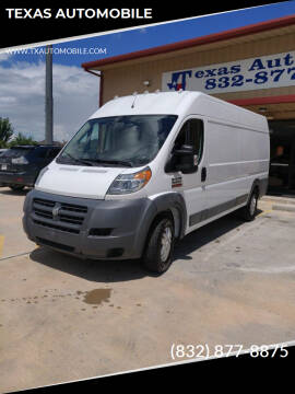 2017 RAM ProMaster Cargo for sale at TEXAS AUTOMOBILE in Houston TX