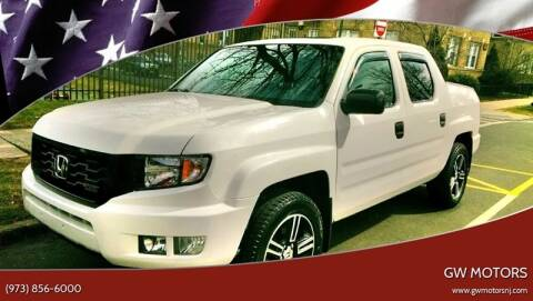 2012 Honda Ridgeline for sale at GW MOTORS in Newark NJ
