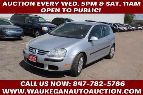 2009 Volkswagen Rabbit for sale at Waukegan Auto Auction in Waukegan IL