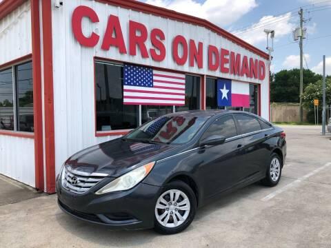 2012 Hyundai Sonata for sale at Cars On Demand in Pasadena TX