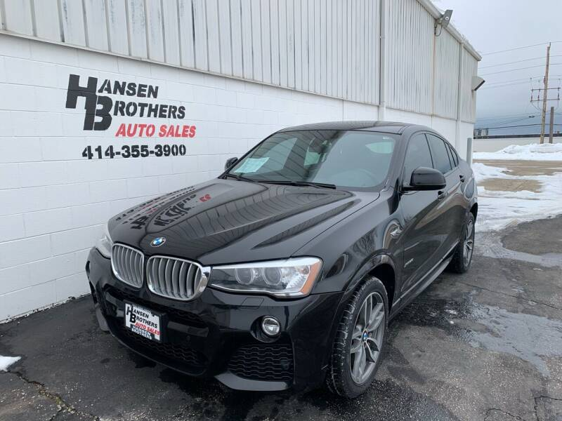 2015 BMW X4 for sale at HANSEN BROTHERS AUTO SALES in Milwaukee WI