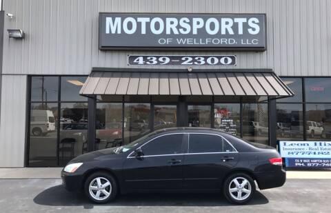 2004 Honda Accord for sale at MotorCars LLC in Wellford SC