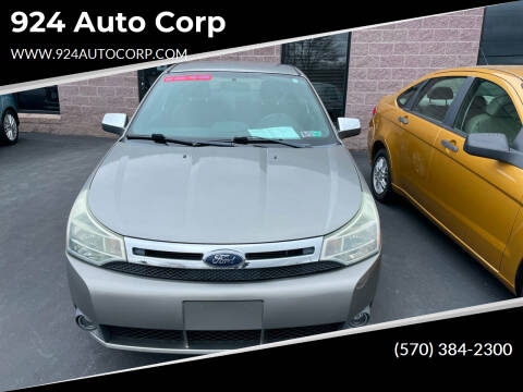 2008 Ford Focus for sale at 924 Auto Corp in Sheppton PA