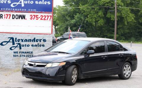 2006 Honda Civic for sale at Alexander's Auto Sales in North Little Rock AR