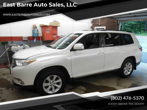 2012 Toyota Highlander for sale at East Barre Auto Sales, LLC in East Barre VT