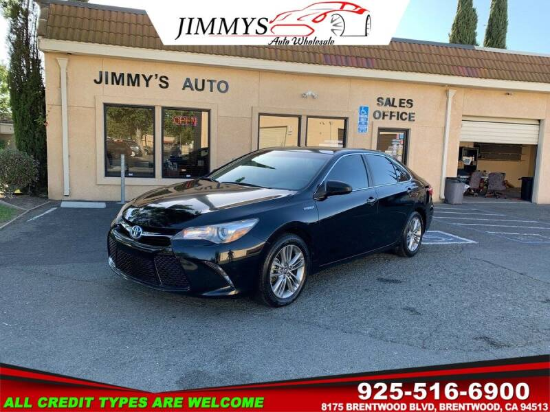2016 Toyota Camry Hybrid for sale at JIMMY'S AUTO WHOLESALE in Brentwood CA
