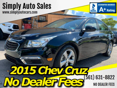 2015 Chevrolet Cruze for sale at Simply Auto Sales in Palm Beach Gardens FL