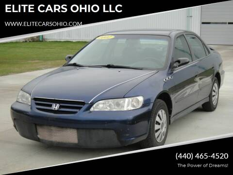 2002 Honda Accord for sale at ELITE CARS OHIO LLC in Solon OH