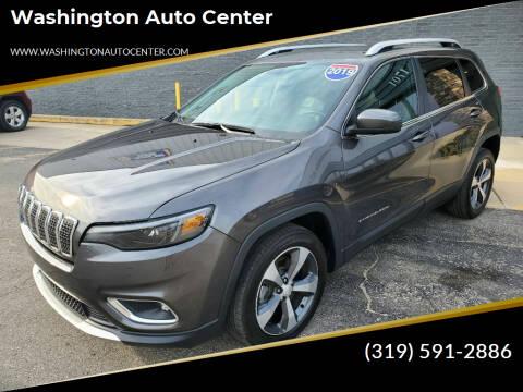 2019 Jeep Cherokee for sale at Washington Auto Center in Washington IA