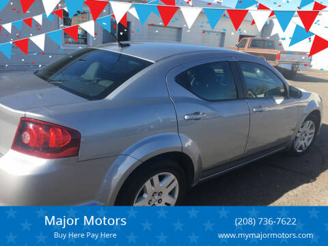 2014 Dodge Avenger for sale at Major Motors in Twin Falls ID