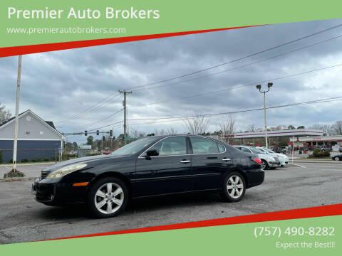 2005 Lexus ES 330 for sale at Premier Auto Brokers in Virginia Beach VA
