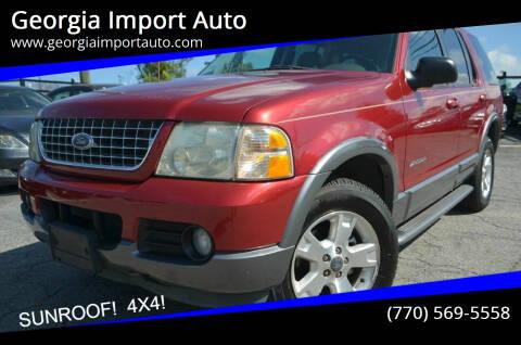 2004 Ford Explorer for sale at Georgia Import Auto in Alpharetta GA