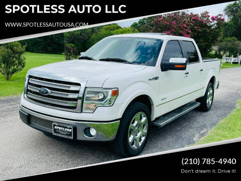 2013 Ford F-150 for sale at SPOTLESS AUTO LLC in San Antonio TX