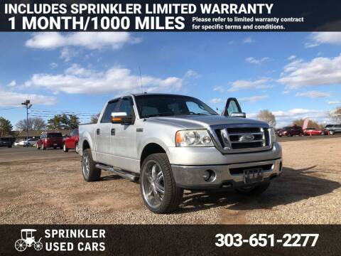 2008 Ford F-150 for sale at Sprinkler Used Cars in Longmont CO