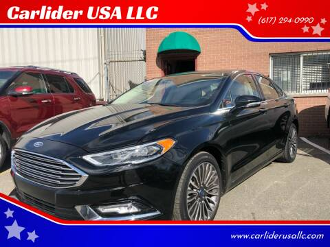 2018 Ford Fusion for sale at Carlider USA in Everett MA