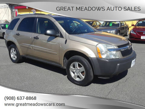 2005 Chevrolet Equinox for sale at GREAT MEADOWS AUTO SALES in Great Meadows NJ