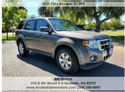 2012 Ford Escape for sale at BM Motors in Modesto CA