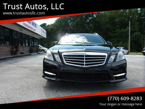 2013 Mercedes-Benz E-Class for sale at Trust Autos, LLC in Decatur GA