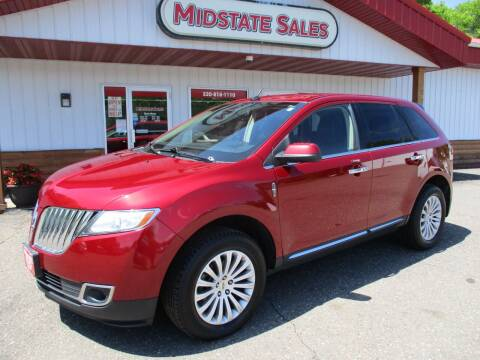 2013 Lincoln MKX for sale at Midstate Sales in Foley MN