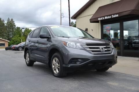 2014 Honda CR-V for sale at Nick's Motor Sales LLC in Kalkaska MI