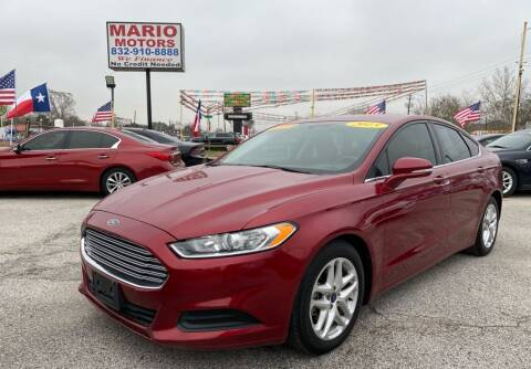 2015 Ford Fusion for sale at Mario Motors in South Houston TX