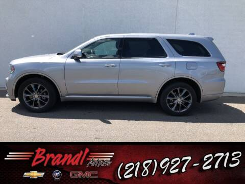 2018 Dodge Durango for sale at Brandl GM in Aitkin MN