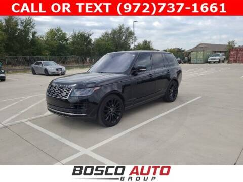 2018 Land Rover Range Rover for sale at Bosco Auto Group in Flower Mound TX