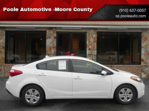 2016 Kia Forte for sale at Poole Automotive in Laurinburg NC