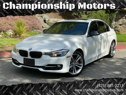 2012 BMW 3 Series for sale at Championship Motors in Redmond WA