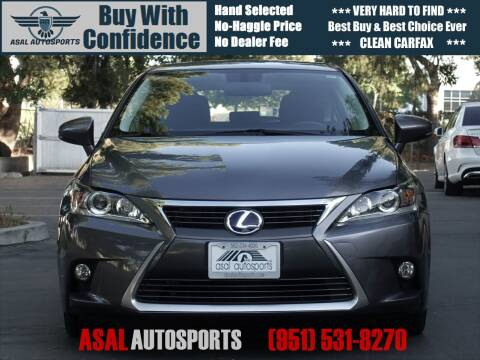 2014 Lexus CT 200h for sale at ASAL AUTOSPORTS in Corona CA