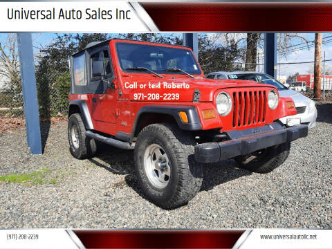1998 Jeep Wrangler for sale at Universal Auto Sales Inc in Salem OR