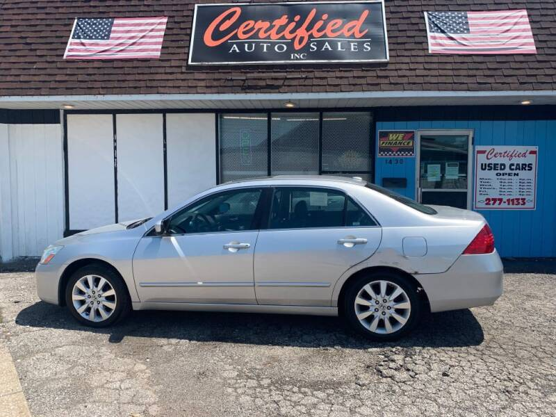 2007 Honda Accord for sale at Certified Auto Sales, Inc in Lorain OH