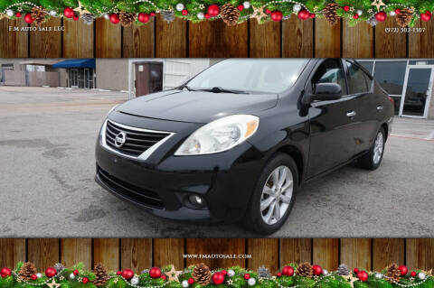 2014 Nissan Versa for sale at F.M Auto Sale LLC in Dallas TX