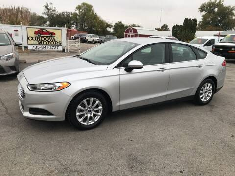 2016 Ford Fusion for sale at Cordova Motors in Lawrence KS