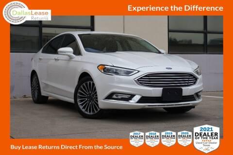 2018 Ford Fusion for sale at Dallas Auto Finance in Dallas TX