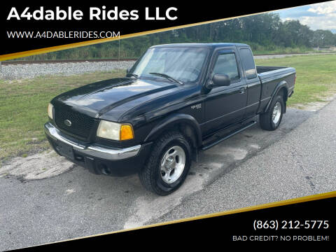 2001 Ford Ranger for sale at A4dable Rides LLC in Haines City FL