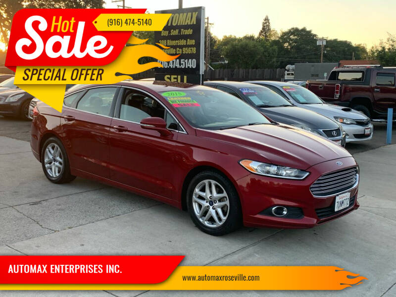 2016 Ford Fusion for sale at AUTOMAX ENTERPRISES INC. in Roseville CA