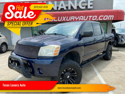 2006 Nissan Titan for sale at Texas Luxury Auto in Cedar Hill TX