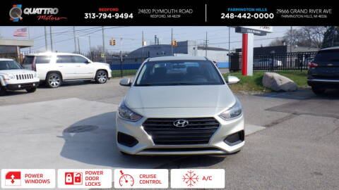 2018 Hyundai Accent for sale at Quattro Motors 2 - 1 in Redford MI