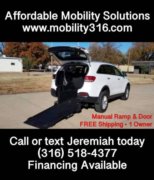 2017 Kia Sorento for sale at Affordable Mobility Solutions, LLC - Mobility/Wheelchair Accessible Inventory-Wichita in Wichita KS