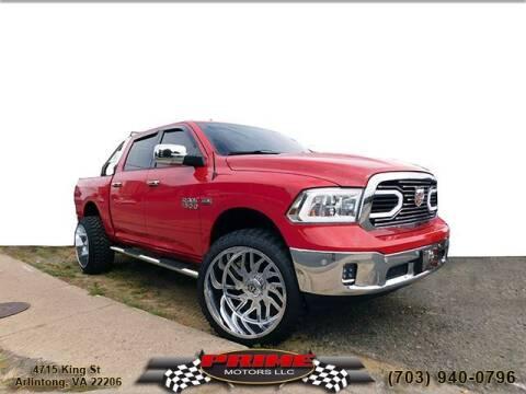 2014 RAM Ram Pickup 1500 for sale at PRIME MOTORS LLC in Arlington VA
