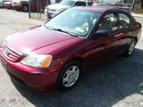 2002 Honda Civic for sale at International Auto Sales Inc in Staten Island NY