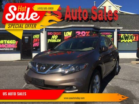 2013 Nissan Murano for sale at US AUTO SALES in Baltimore MD
