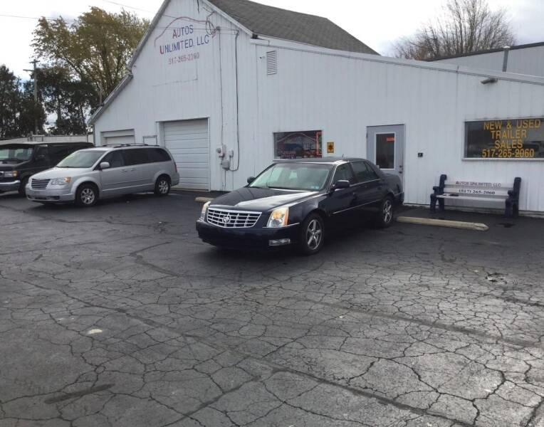 2007 Cadillac DTS for sale at Autos Unlimited, LLC in Adrian MI