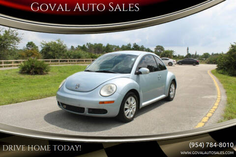 2009 Volkswagen New Beetle for sale at Goval Auto Sales in Pompano Beach FL