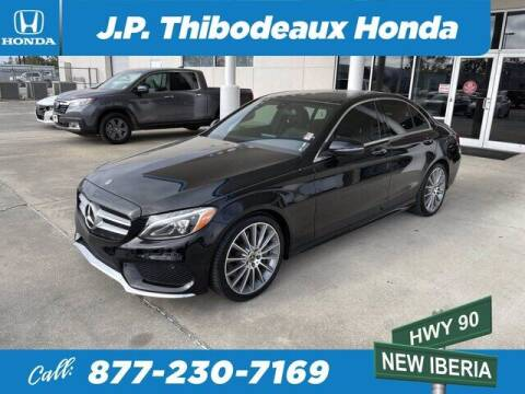 2018 Mercedes-Benz C-Class for sale at J P Thibodeaux Used Cars in New Iberia LA