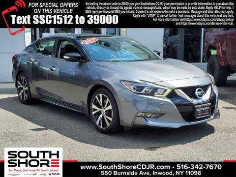 2017 Nissan Maxima for sale at South Shore Chrysler Dodge Jeep Ram in Inwood NY
