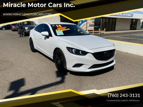 2014 Mazda MAZDA6 for sale at Miracle Motor Cars Inc. in Victorville CA